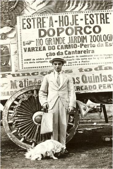 Portuguese Singing Dog Act--Art Print