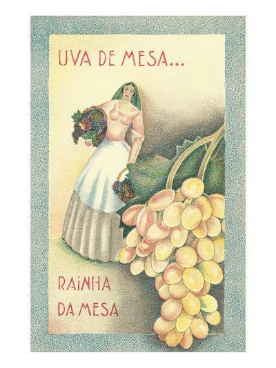 Portuguese Table Grape Label--Art Print