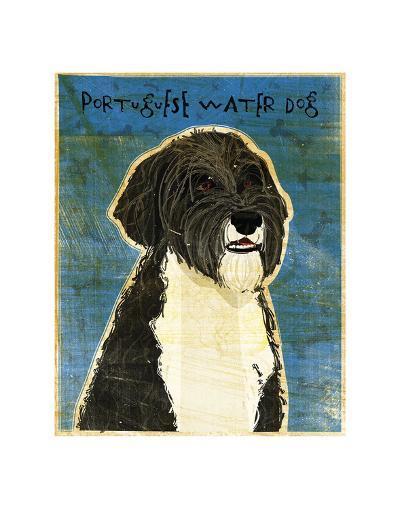 Portuguese Water Dog-John W^ Golden-Art Print
