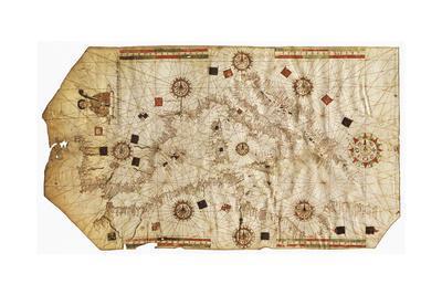 Portulario Del Mediterraneo, 1538-Bartolomeo Olives-Giclee Print