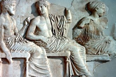 Poseidon, Apollo and Artemis, 447-432 BC. Artist: Unknown-Unknown-Framed Giclee Print