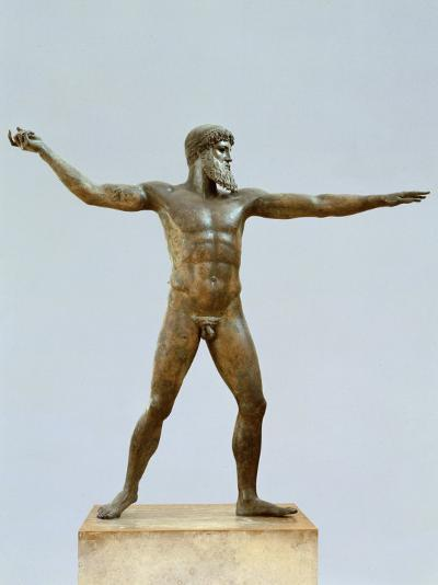 Poseidon, God of the Sea, Bronze, c. 460 BC Classical Greek, by Calamis--Photographic Print