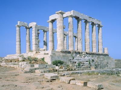 Poseidon Temple in the Sounion National Park,  Attica, Greece-Rainer Hackenberg-Photographic Print