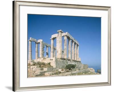 Poseidon Temple in the Sounion National Park, Greece, Attica-Rainer Hackenberg-Framed Photographic Print