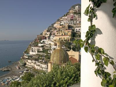 Positano, View from Hotel Sirenuse, Amalfi Coast, UNESCO World Heritage Site, Campania, Italy-Marco Cristofori-Photographic Print