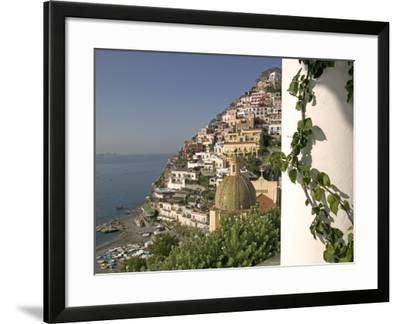 Positano, View from Hotel Sirenuse, Amalfi Coast, UNESCO World Heritage Site, Campania, Italy-Marco Cristofori-Framed Photographic Print