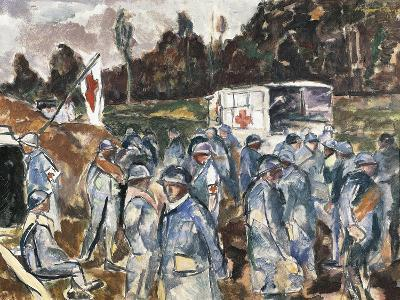 Position of First Aid Station at Esternay Trench on Cauroy Cornicy-Marne Road, April 1917--Giclee Print