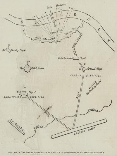 Position of the Forces Previous to the Battle of Sobraon--Giclee Print