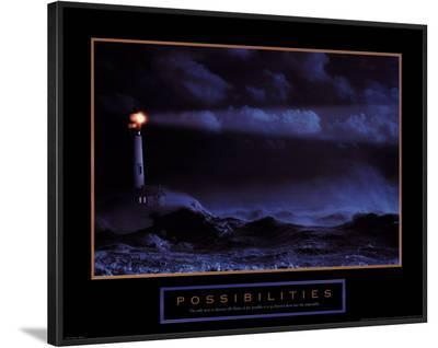 Possibilities: Lighthouse--Framed Art Print