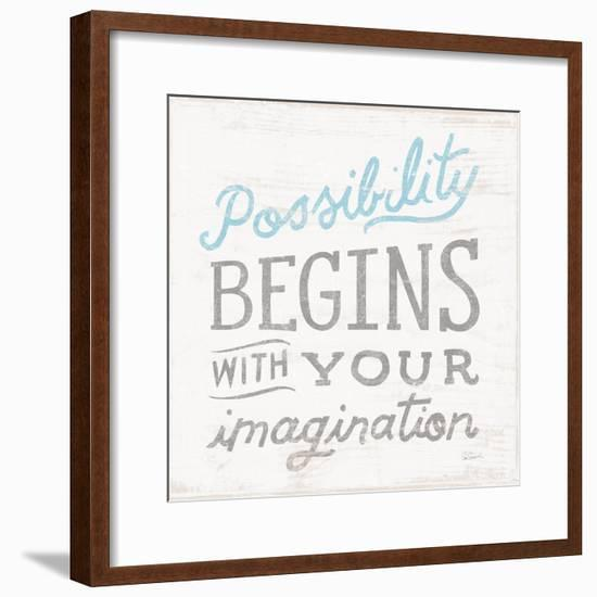 Possibility Gray-Sue Schlabach-Framed Art Print