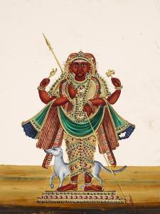 Possibly a Depitcion of Bharab, the Incarnation of Vishnu and the God of Destruction, from…