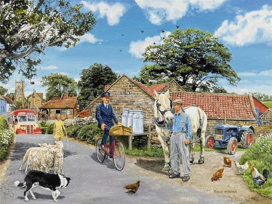 Post for the Farm-Trevor Mitchell-Giclee Print