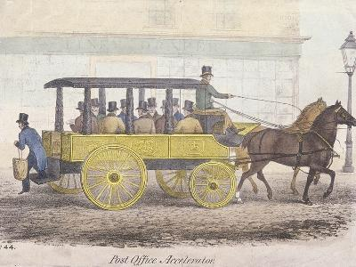 Post Office Accelerator with Passengers, Holborn, London, C1830-JR Burfoot-Giclee Print
