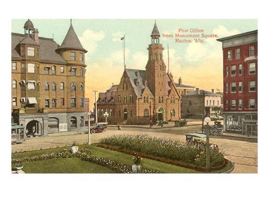 Post Office, Monument Square, Racine, Wisconsin--Art Print