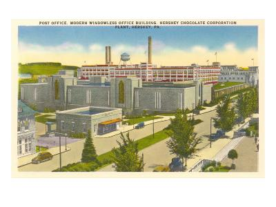 Post Office, Plant, Hershey, Pennsylvania--Art Print