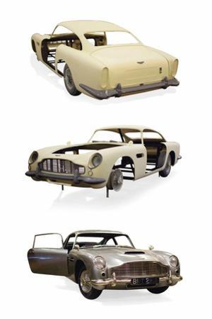 Post-Production 1/3 Scale Replica Miniature Model of the Aston Martin DD5 Used in 'Skyfall'