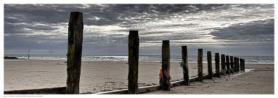 Post Row at Beach-Adrian Z.-Art Print