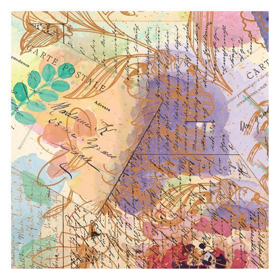 Postage Rose 3-Kimberly Allen-Art Print