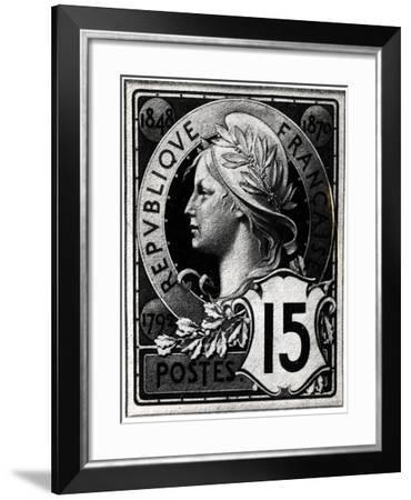 Postage Stamp Depicting Marianne, the Official Representation of the French Republic, circa 1893--Framed Giclee Print