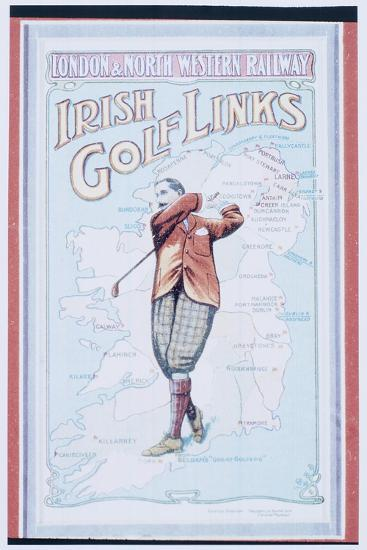Postcard advertising golfing trips to Ireland, c1910-Unknown-Giclee Print
