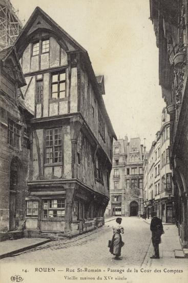 Postcard Depicting a 15th Century House on the Passage De La Cour Des Comptes--Photographic Print