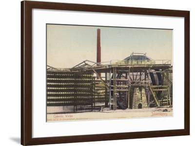 Postcard Depicting a Cyanide Works at a Gold Mine in Johannesburg--Framed Photographic Print