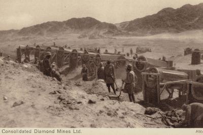Postcard Depicting a Diamond Mine--Photographic Print