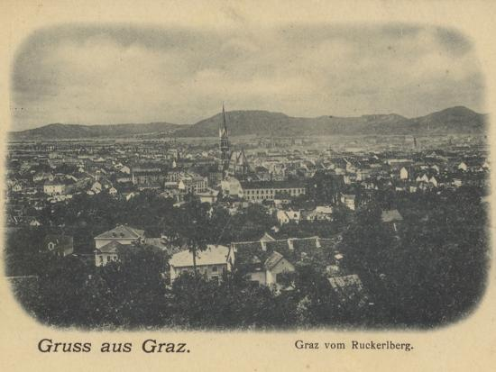 Postcard Depicting a General View of Graz--Photographic Print