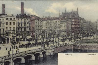 Postcard Depicting a General View of Hamburg--Photographic Print