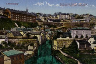 Postcard Depicting a General View of the City of Luxembourg--Photographic Print