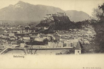 Postcard Depicting a General View of the City of Salzburg--Photographic Print