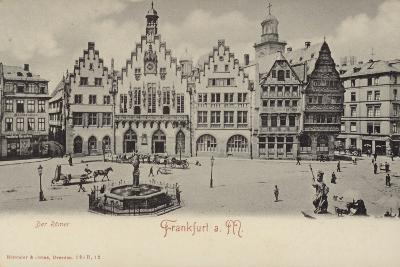 Postcard Depicting a General View of the Romer Area of Frankfurt--Photographic Print