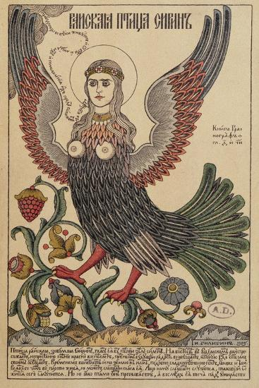 Postcard Depicting a Harpy, 1905--Giclee Print