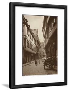 Postcard Depicting a Narrow Street Behind the Lamb