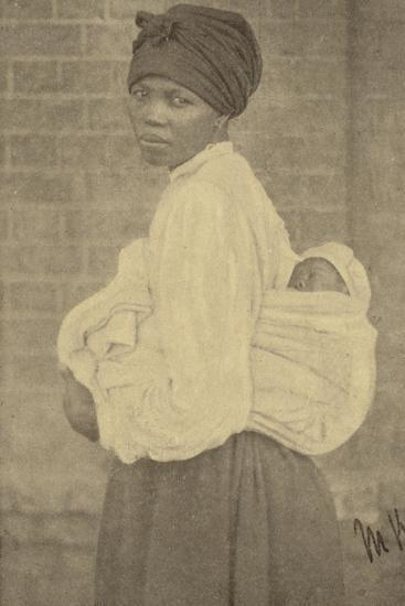 Postcard Depicting a Zulu Woman and Her Baby--Photographic Print