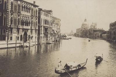 Postcard Depicting Gondolas on the Grand Canal in Venice--Photographic Print