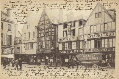 Postcard Depicting Old Houses in the Place Des Marches--Photographic Print