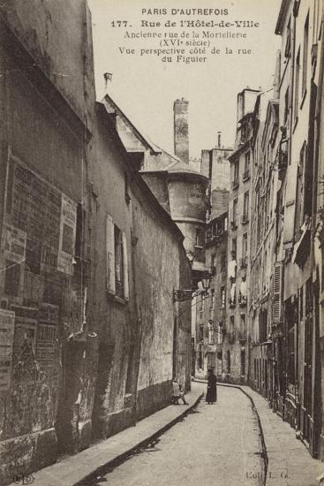 Postcard Depicting Old Paris--Photographic Print