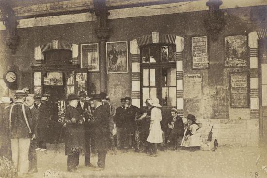 Postcard Depicting People Standing on a Platform at the Gare De Lyon-Perrache--Photographic Print
