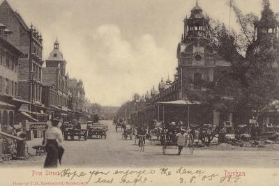 Postcard Depicting Pine Street in Durban--Photographic Print