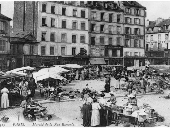 Postcard Depicting Place D'Aligre and Marche Lenoir, Rue Beccaria, Paris, 1906--Photographic Print