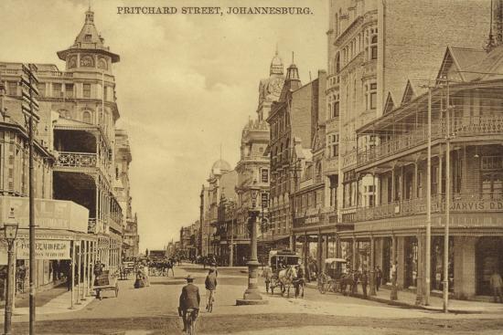 Postcard Depicting Pritchard Street in Johannesburg--Photographic Print
