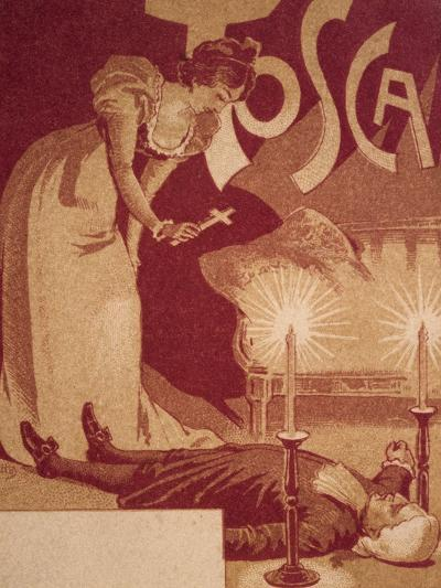 Postcard Depicting Scene from Tosca, Opera by Giacomo Puccini--Giclee Print