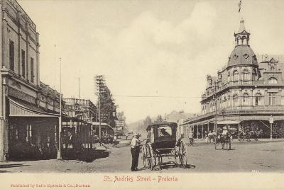 Postcard Depicting St Andries Street in Pretoria--Photographic Print