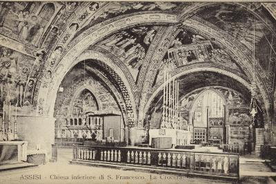 Postcard Depicting the Apse of the Basilica of San Francesco D'Assisi--Photographic Print
