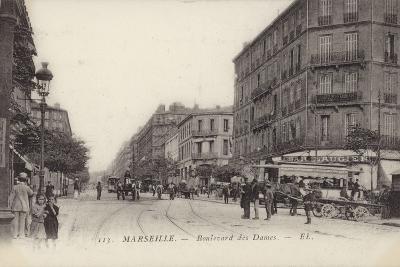Postcard Depicting the Boulevard Des Dames--Photographic Print