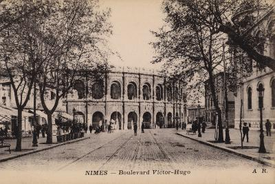 Postcard Depicting the Boulevard Victor-Hugo and the Roman Amphitheatre--Photographic Print