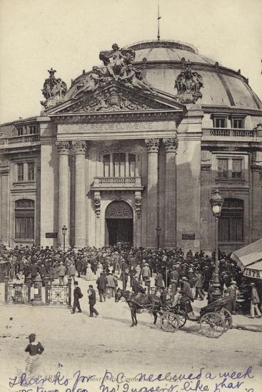 Postcard Depicting the Bourse De Commerce--Photographic Print
