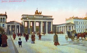 Postcard Depicting the Brandenburg Gate in Berlin, Pre 1914
