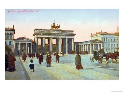 Postcard Depicting the Brandenburg Gate in Berlin, Pre 1914--Giclee Print